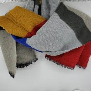 Multi-colored Soft Wool Scarf